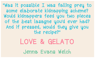 Love & Gelato Quote